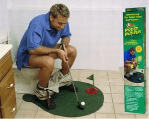 あなたのトイレがゴルフ場に - Potty Putter -