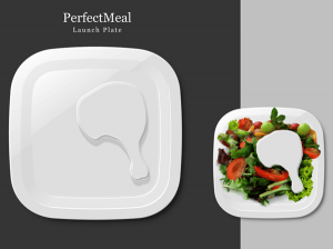メインディッシュはお皿です - Portion Control with Meat -