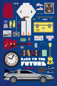 グッズやパーツのイラストで語る映画ポスター - Movie Parts Poster -