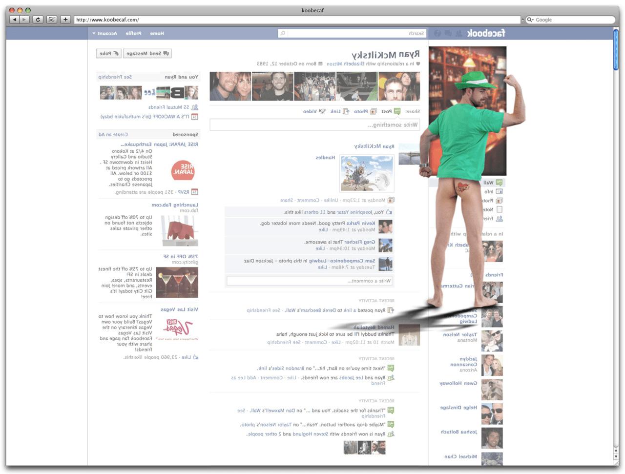 back of a webpage