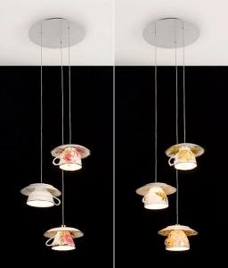 光がこぼれてくるティーカップのかわいい照明 - Gorgeous Enlighting Cups of Tea -