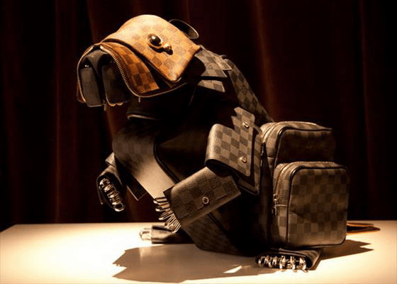 Animals made of Louis Vuitton