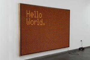 スイッチオンで思いのままに描ける電光掲示板 - Untitled -