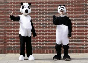 もっともエコなたった一枚のリーフレット - Pandas in the Mall -