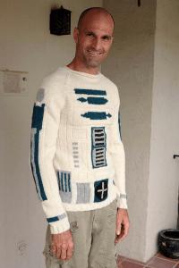 R2-D2になりたい人の為のセーター - R2-D2 sweater -