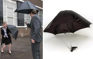雨の日も楽しくなっちゃう雨水鉄砲のカサ - Water Gun Umbrella -