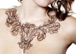 髪で結ったネックレス - Hair Necklaces -