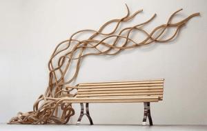まるで生きているかのような躍動感あるベンチ - Spaghetti Bench -