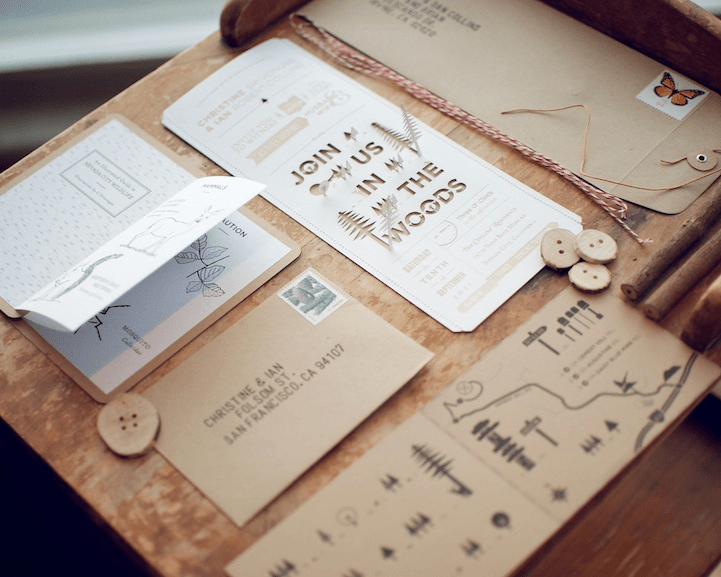 Punched Out Wedding Invitations