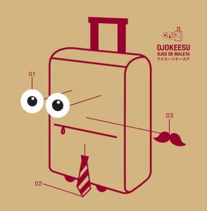 あなたのスーツケースがかわいらしくなるステッカー - OJOKEESU -