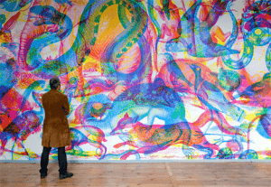 光の色で絵が変わる驚くべきアート - RGB Art -