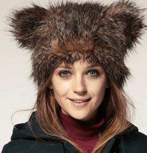 猫耳ならぬ、熊耳の帽子 - Fur Bear Hat -