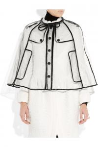 透明なジャケット風、オシャレレインコート - Patent leather-trimmed cape -