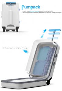 圧縮機能がついた本当に便利なスーツケース - Vacuum Packed Suitcase -