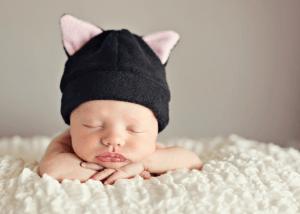 可愛すぎる赤ちゃん用の動物の耳付き帽子パターン - Baby Hat Pattern -