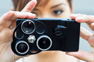 iPhoneのカメラにダイヤル式のレンズを装着! - iPhone Lens Dial -
