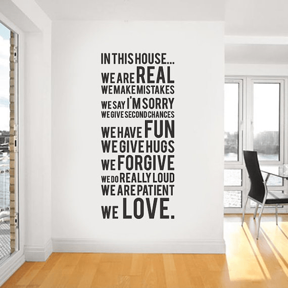 House Rules Vinyl Wall Stickers