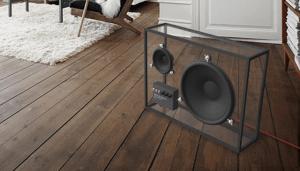 インテリアに溶け込む透明なスピーカー - invisible speaker -