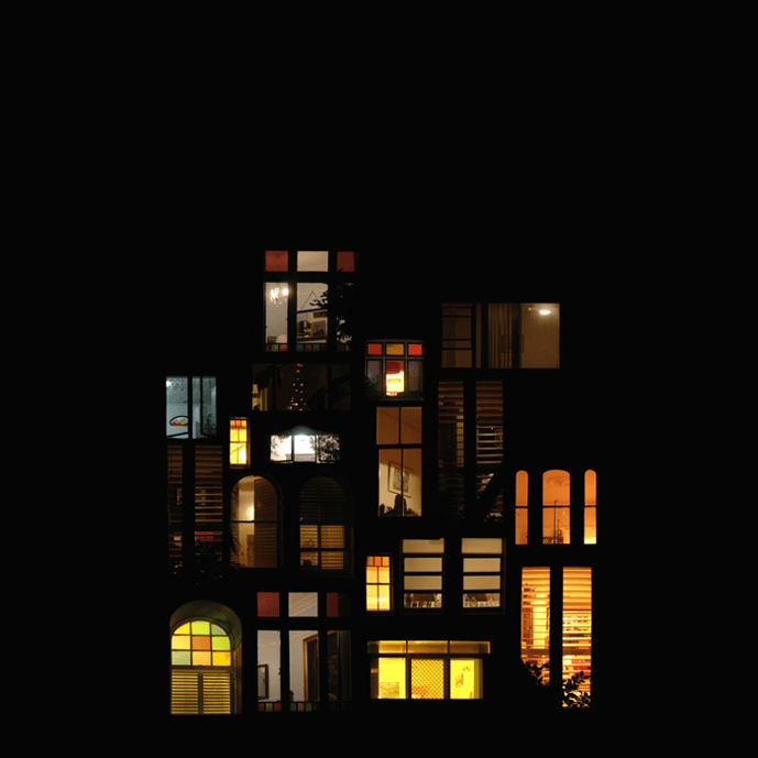 Dreamy Window Collage Structures