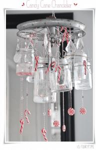 手作りで楽しむクリスマスシャンデリア - Candy Cane Chandelier -
