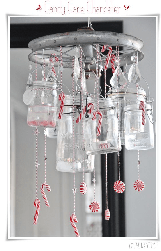 Candy Cane Chandelier