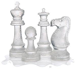 ドキドキの時間的制約があるチェスセット - Ice Speed Chess Set -