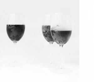 レースを纏った美しいワイングラス - lace glasses -