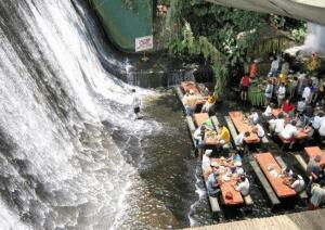 流されてしまいそうな滝の中のレストラン - Waterfalls Restaurant -