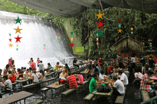 Villa Escudero with the Waterfalls Restaurant