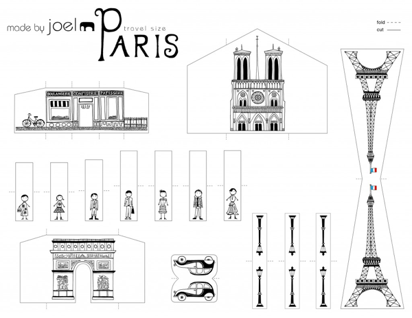 Travel Size Paper City Paris