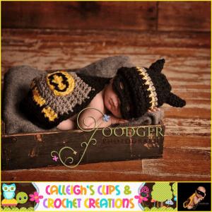 赤ちゃんを可愛くバットマンに変身させるケープセット  - calleighsclips -