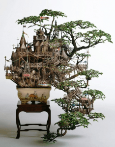 ファンタジーな世界感が溢れてすご過ぎる盆栽 - Badass Bonsai tree houses -
