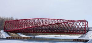 別世界へと繋がっていそうなねじれ曲がった橋 - Bridge Vlaardingse Vaart -