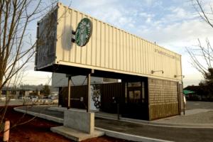 コンテナを再利用して作られたエコなスターバックス - Starbucks Container Store -