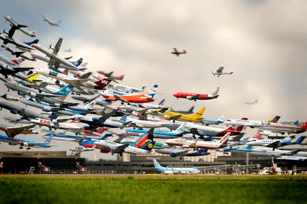 Striking Artistry of Multiple Takeoffs