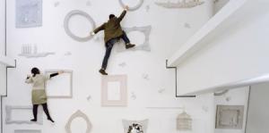 アリスの不思議な世界で額縁クライミング - Whimsical Climbing Wall -