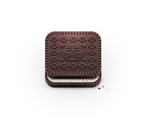 Square Icons Of Food