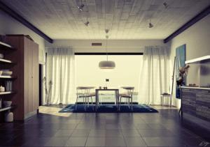 ホワイトを基調としたスタイリッシュなダイニングの事例 - White Decor Dining Areas -