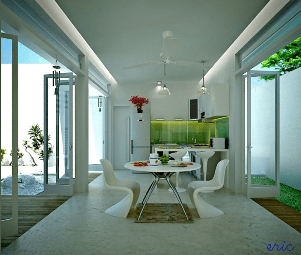 White Decor Dining Areas