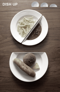 よく考えられてる!オシャレで機能的な自立するお皿 - Dish Up -