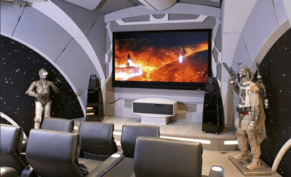 Amazing Star Wars Themed Home Theater