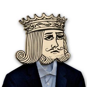 ちょっとシュール。あなたの服を着るちょっと憂鬱な王様 - unique hook -
