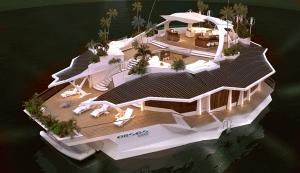 大富豪なら買っておきたい、ちょっとした空母のような5億円の人口浮島 - Orsos Island -