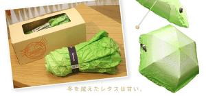 レタスな折りたたみ傘で梅雨を楽しむ - Vegetabrella -