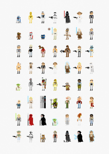 ちょっとかわいい。映画のキャラクターがレトロなビデオゲーム風に - 8-bit Movie Characters -