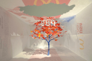 ブランドの紙袋が枯らす自然、美しくも悲しい警鐘の木 - Notice Forest -