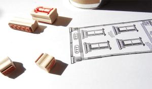誰でも簡単!オシャレな建物が簡単に描けちゃうスタンプセット - Paper Neighborhood -