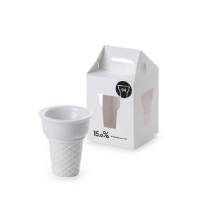 コーンのシルエットがかわいい!アイスクリームカップ - 15.0% ice cream cup & spoon -