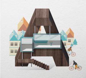 夏気分!リゾートをイメージしたタイポグラフィがかわいい - Resort Type -