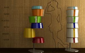 部屋のオブジェとしても置いておきたいゴミ箱 - Twist Disposal System -